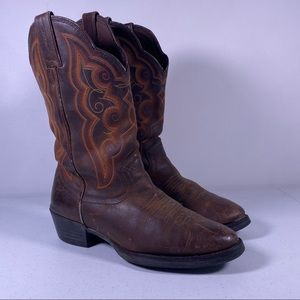 Justin Leather Cowboy Boots